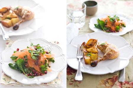 havuç salatası ve fırında tavuk